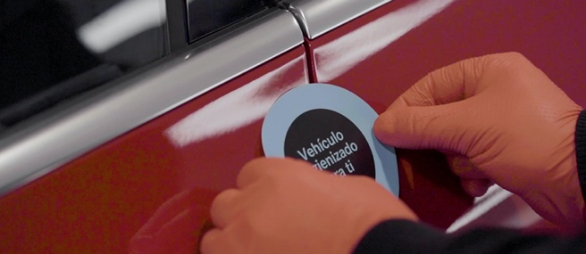 Higienización de vehículo